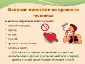 Никотин для организма человека польза и вред