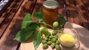 Зеленый грецкий орех с медом польза и вред