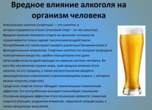 Вред и польза алкоголя на организм человека вся правда