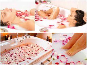 Ванна с лепестками роз польза и вред