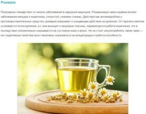 Зеленый чай с ромашкой польза и вред