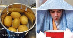 Дышать над картошкой вред и польза и вред
