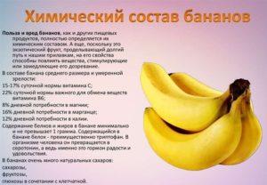 Банан польза и вред для здоровья ребенка