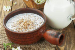 Гречка с кефиром утром натощак польза и вред от сахара