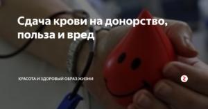 Донорства крови вред и польза и вред