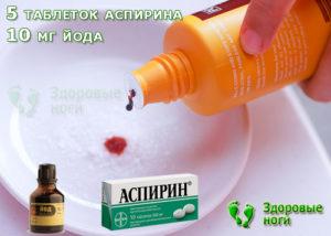 Смесь йода и аспирина польза и вред