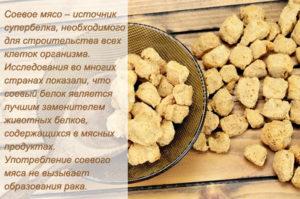 Соевое мясо польза и вред калорийность для похудения