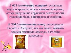 Усилитель вкуса е621 вред и польза и вред