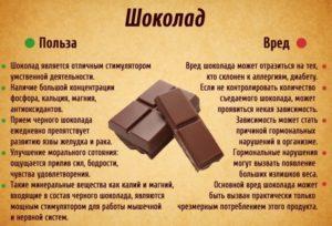 Темный шоколад вред и польза и вред