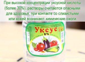 Уксусная кислота польза и вред для здоровья