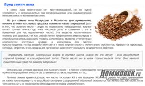 Польза и вред семян льна для женщин