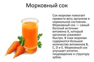 Морковный сок польза и вред для детей